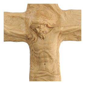 Crucifixo em madeira de lenga esculpido à mão 35x25x5 cm Mato Grosso s2