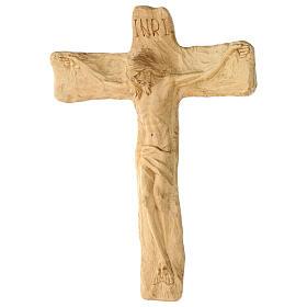 Crucifixo em madeira de lenga esculpido à mão 35x25x5 cm Mato Grosso s4