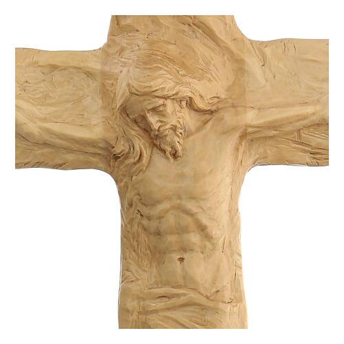 Crucifixo em madeira de lenga esculpido à mão 35x25x5 cm Mato Grosso 2