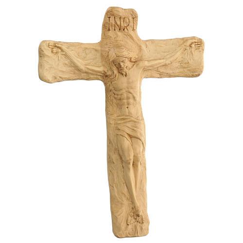 Crucifixo em madeira de lenga esculpido à mão 35x25x5 cm Mato Grosso 3