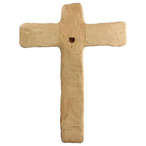 Crucifixo em madeira de lenga esculpido à mão 35x25x5 cm Mato Grosso 6