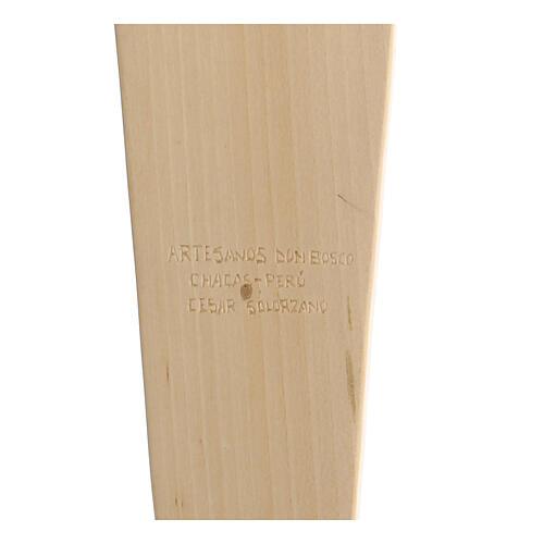 Crucifixo em madeira Virgem suporta Jesus 35x25x5 cm Mato Grosso 5