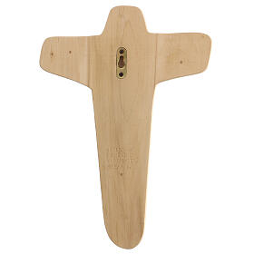 Crocifisso Madonna sostiene Cristo legno colori olio 35x25x5 cm Mato Grosso s6