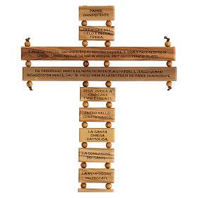 Crucifijo credo madera de olivo 22 cm s2