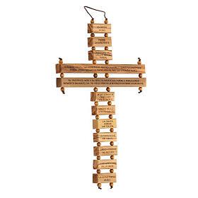 Crucifijo credo madera de olivo 22 cm s3