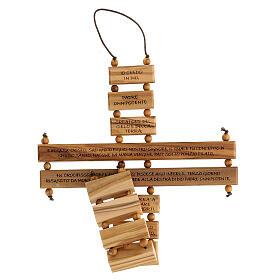 Crucifijo credo madera de olivo 22 cm s4