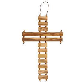 Crucifijo credo madera de olivo 22 cm s5