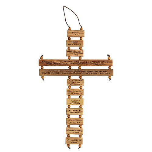Crucifijo credo madera de olivo 22 cm 1