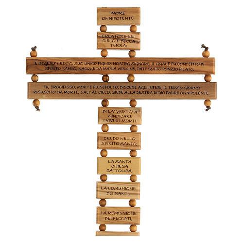 Crucifijo credo madera de olivo 22 cm 2