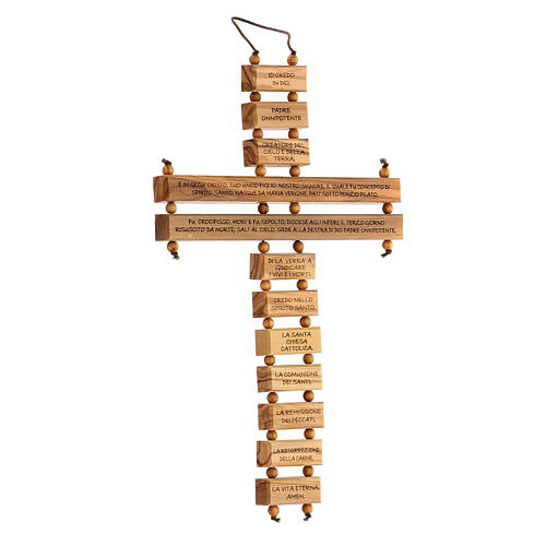 Crucifijo credo madera de olivo 22 cm 3