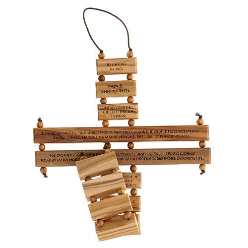 Crucifijo credo madera de olivo 22 cm 4