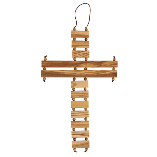 Crucifijo credo madera de olivo 22 cm 5