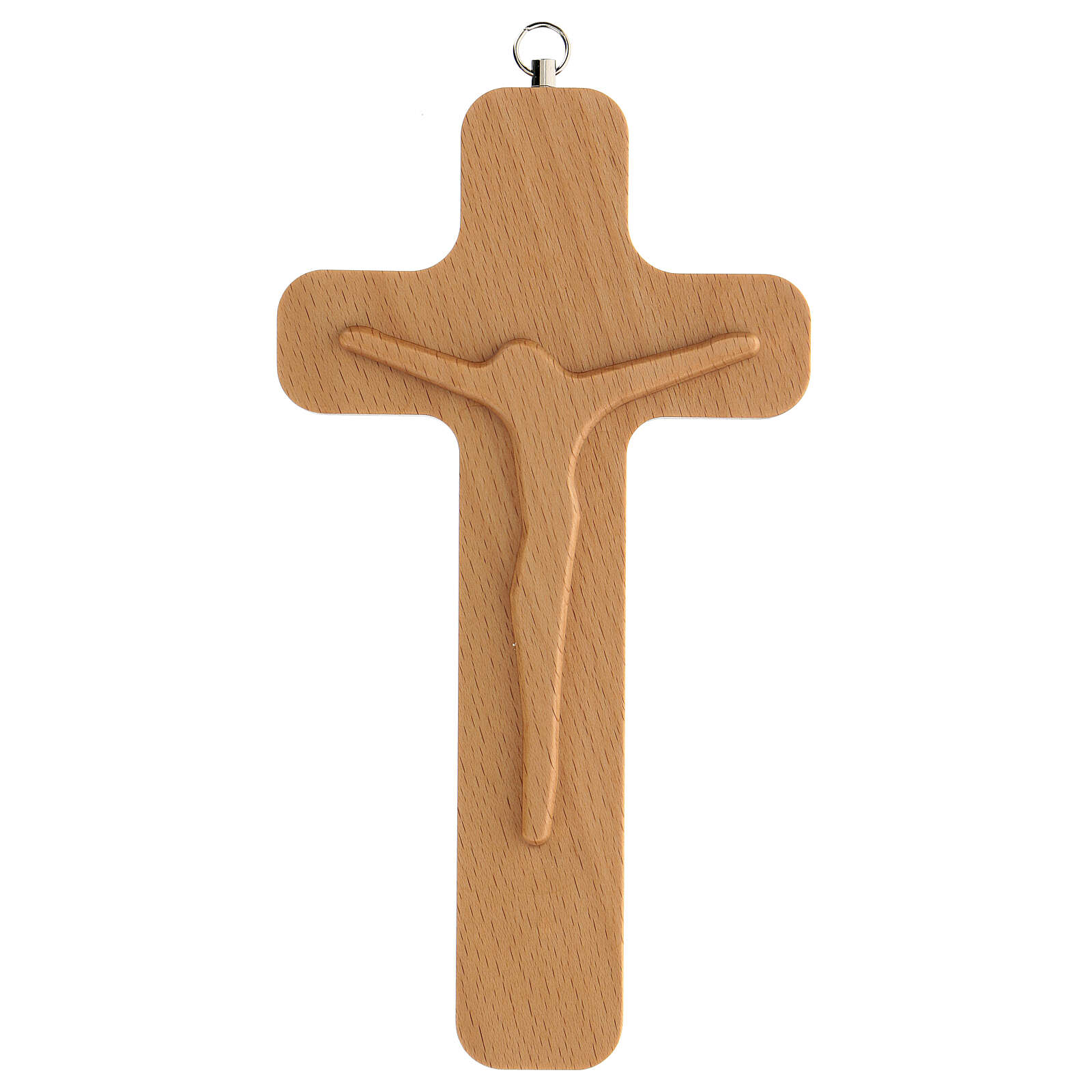 Crucifijo madera figura Cristo 20 cm 4