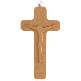 Crucifijo madera figura Cristo 20 cm s1