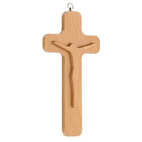 Crucifijo madera figura Cristo 20 cm s3