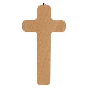 Crucifijo madera figura Cristo 20 cm s4