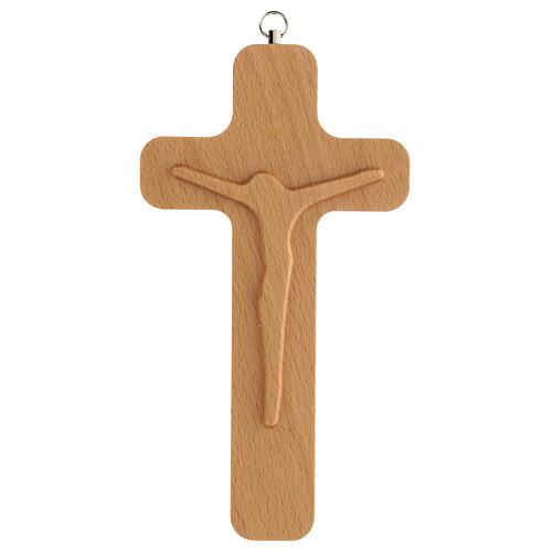 Crucifijo madera figura Cristo 20 cm 1