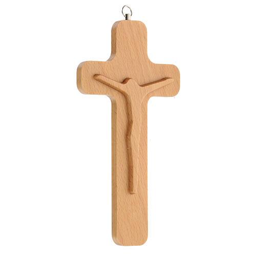 Crucifijo madera figura Cristo 20 cm 3