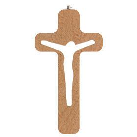 Crucifijo perforado Cristo madera 20 cm s1