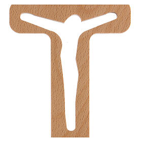 Crucifijo perforado Cristo madera 20 cm s2