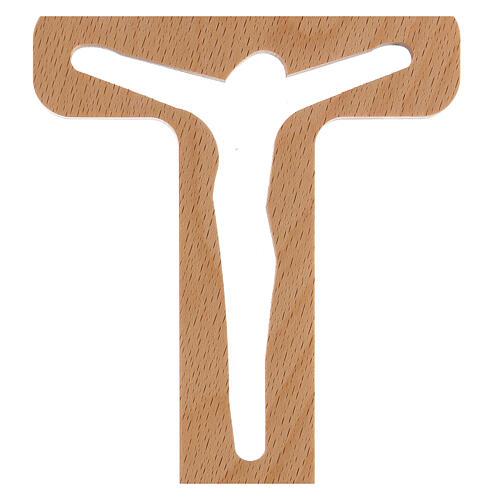 Crucifijo perforado Cristo madera 20 cm 2