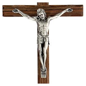 Crucifijo madera nogal motivo inciso 25 cm s2