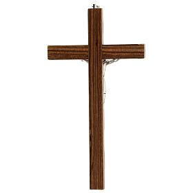 Crucifijo madera nogal motivo inciso 25 cm s4