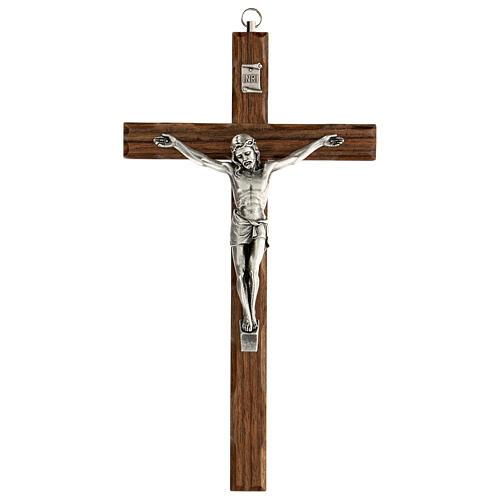 Crucifijo madera nogal motivo inciso 25 cm 1