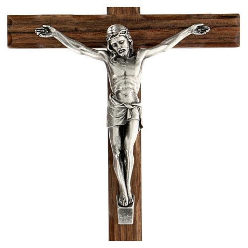 Crucifijo madera nogal motivo inciso 25 cm 2