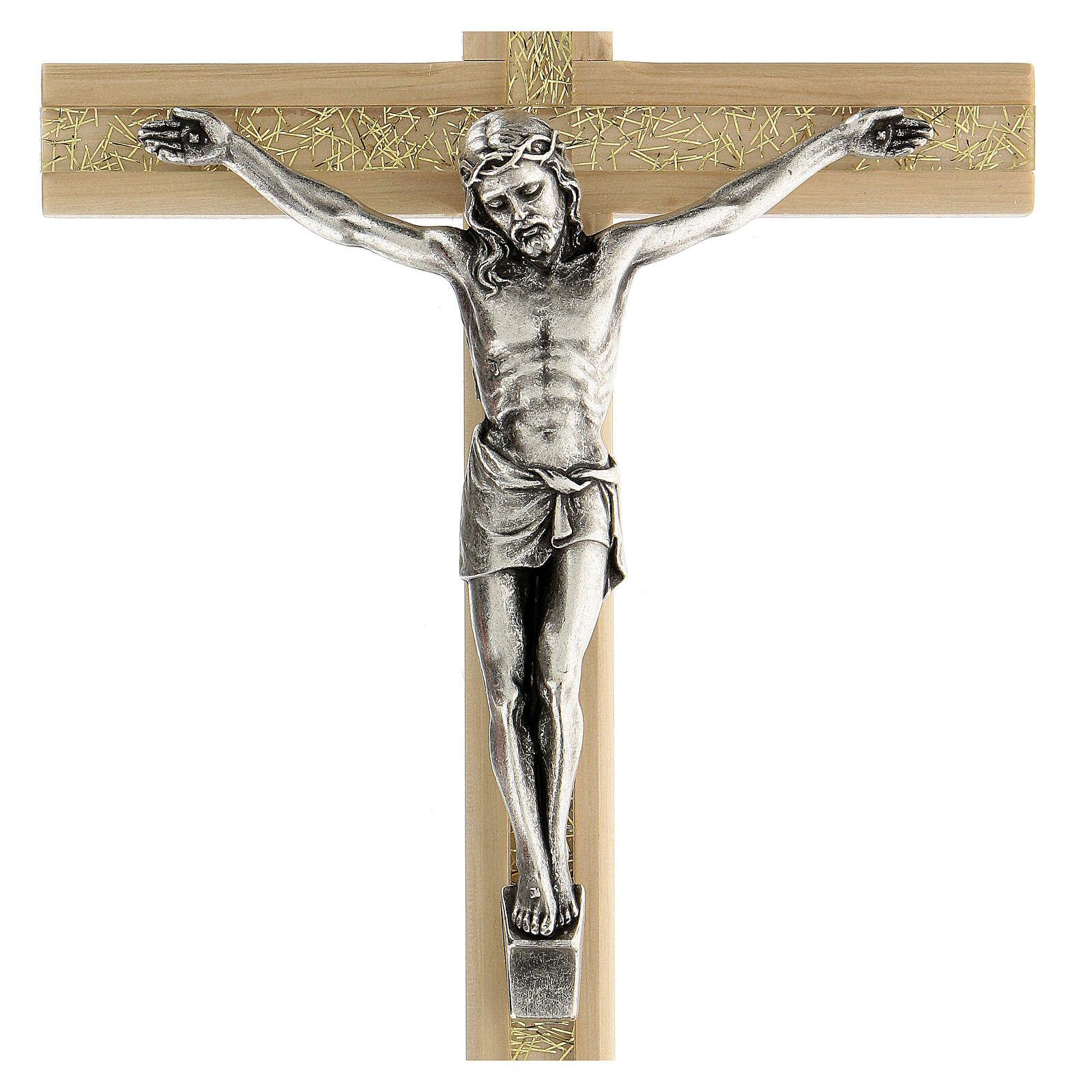 Crucifijo motivo plexiglás detalles dorados 25 cm 4