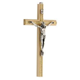 Crucifijo motivo plexiglás detalles dorados 25 cm s3