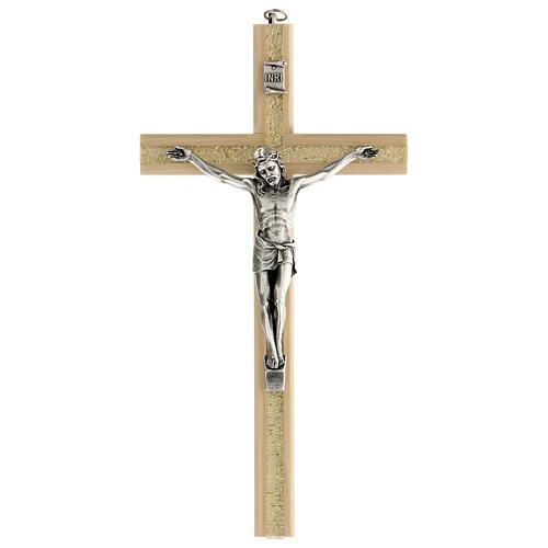 Crucifijo motivo plexiglás detalles dorados 25 cm 1