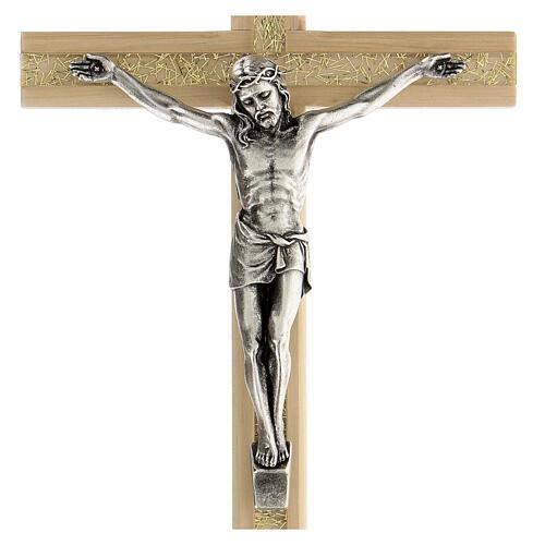 Crucifijo motivo plexiglás detalles dorados 25 cm 2