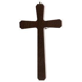 Crucifijo motivos madera oscuro colgar Cristo metal 20 cm s4