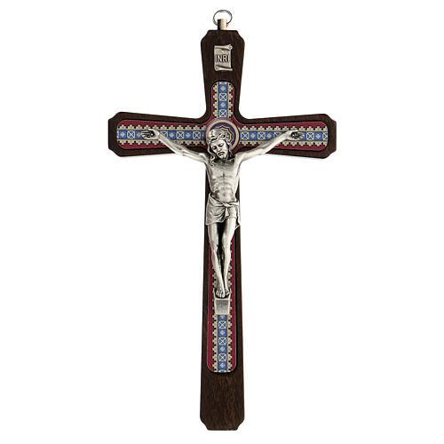 Crucifijo motivos madera oscuro colgar Cristo metal 20 cm 1