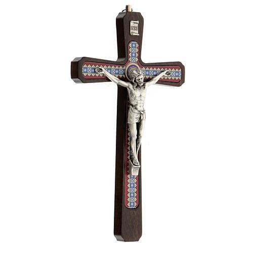 Crucifijo motivos madera oscuro colgar Cristo metal 20 cm 3