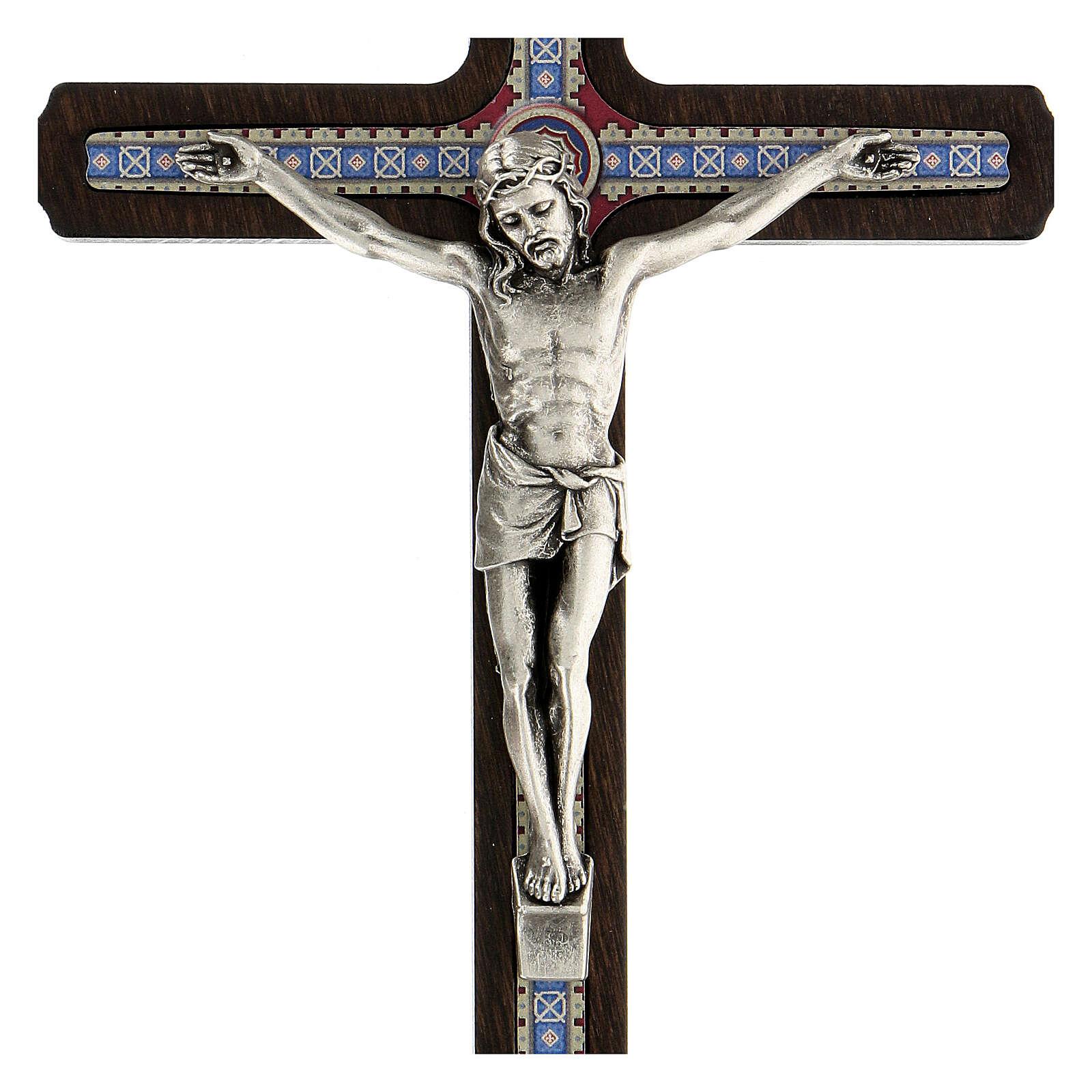 Crucifijo motivo madera oscura anillo colgar 20 cm 4