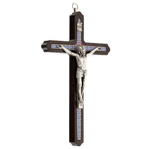 Crucifijo motivo madera oscura anillo colgar 20 cm 3