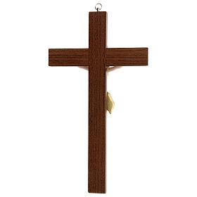 Crucifijo fresno Jesús resina madera fresno barnizado 30 cm s4