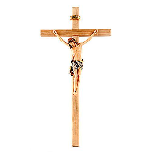 Crucifix peint, croix droite 1