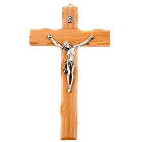 Crucifix en bois d'olivier, croix droite s1