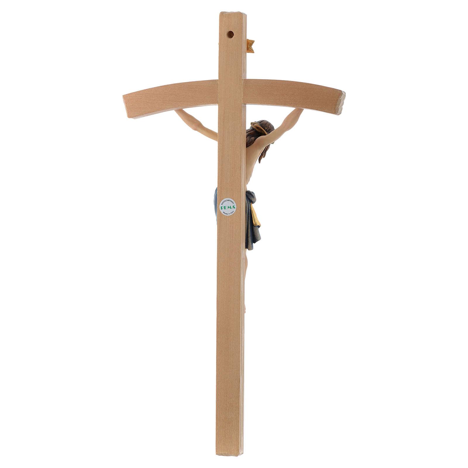 Crocefisso Siena dipinto croce curva 4
