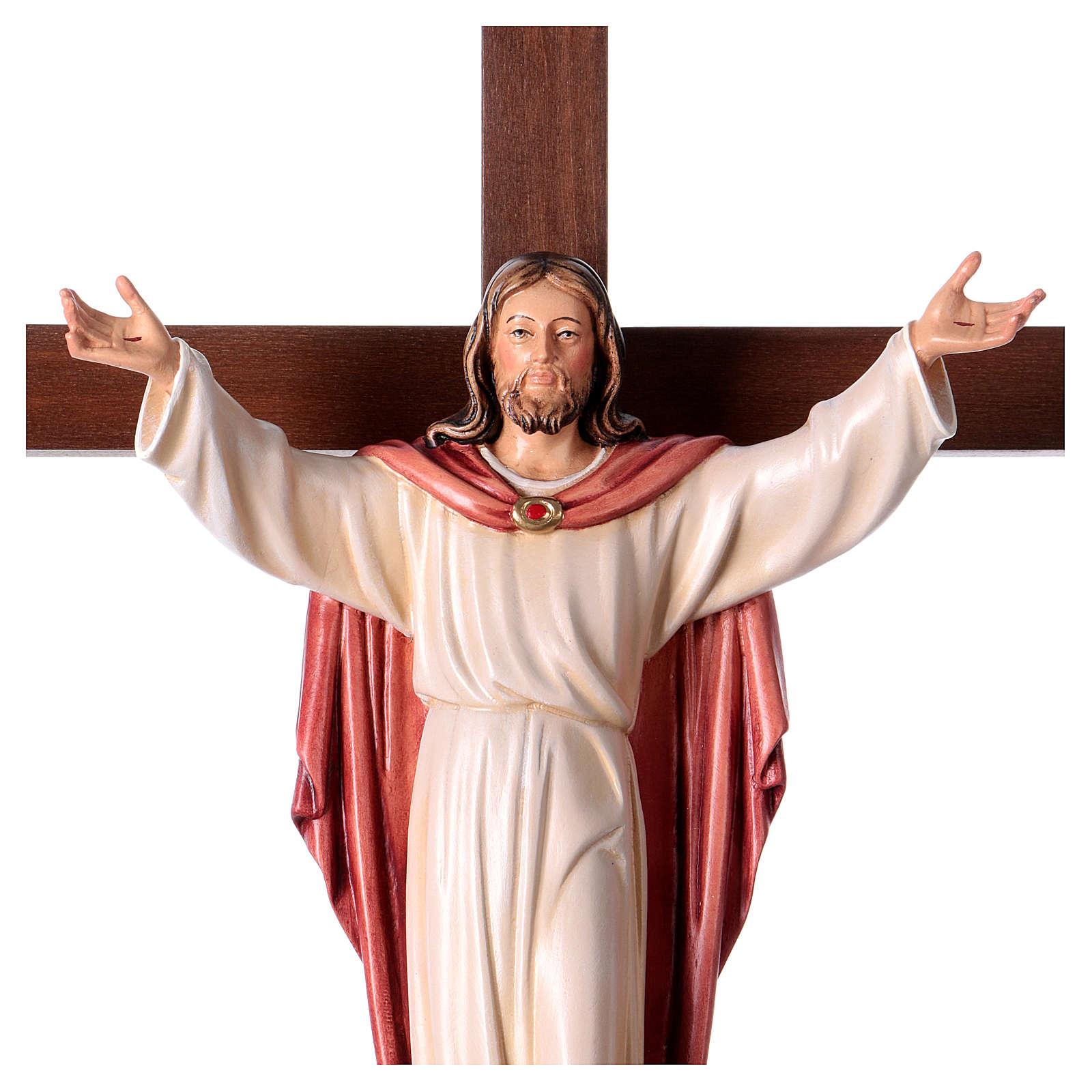 Gestiegene Kristus auf nicht- gekruemmten Kreuz 4