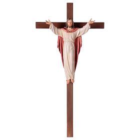 Gestiegene Kristus auf nicht- gekruemmten Kreuz s1