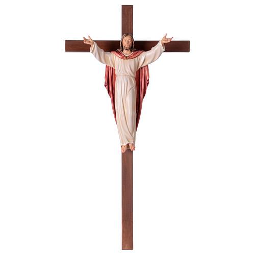 Gestiegene Kristus auf nicht- gekruemmten Kreuz 1
