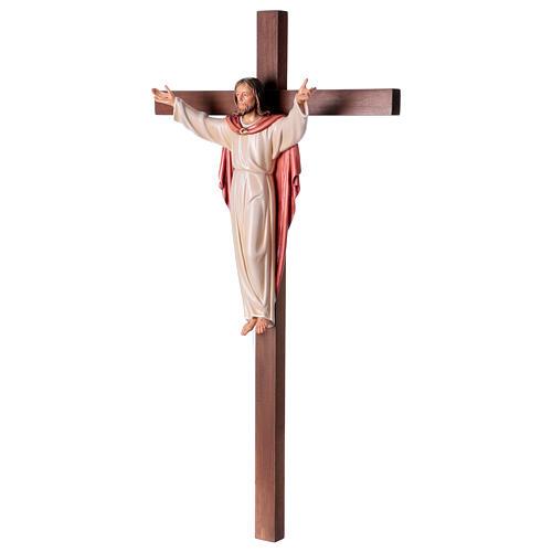 Gestiegene Kristus auf nicht- gekruemmten Kreuz 3
