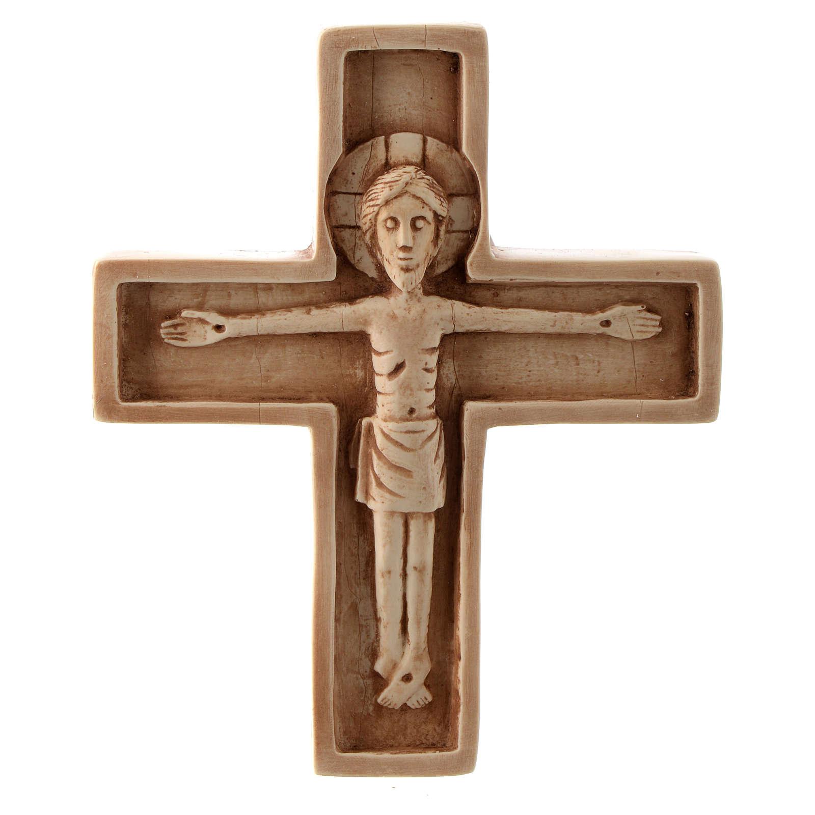 Crucifijo color marfil piedra Bethléem 4