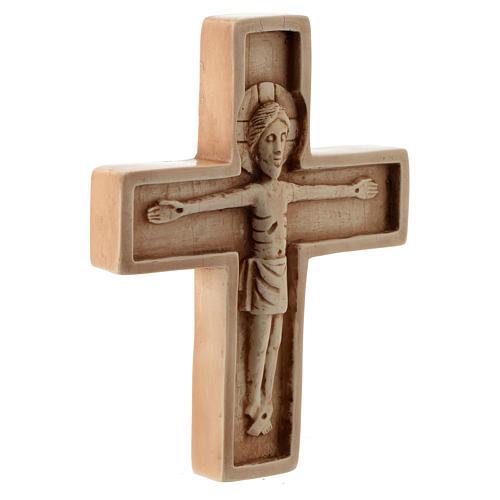 Crucifijo color marfil piedra Bethléem 3