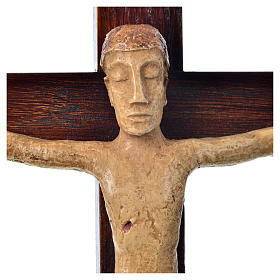 Crucifix in stone on wood H34cm Bethléem s5