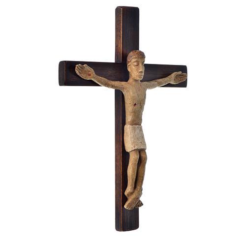 Crocifisso in pietra su legno h 34 cm Bethléem 2